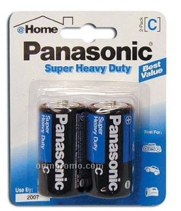 Panasonic Super Heavy Duty C 2-pack Batteries