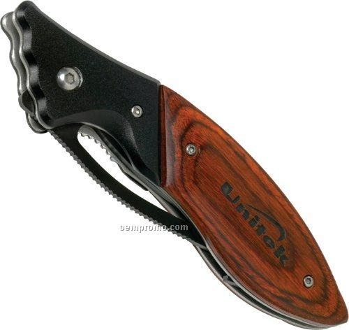 Wood Handle Sports Knife