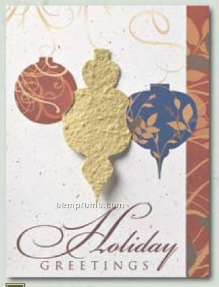 """""""Ornament Elegance"""" Holiday Greeting Card With Holiday Ornament"""