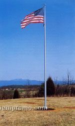 25' Special Budget Series/ Cone Tapered Aluminum Flagpoles (Satin Finish)
