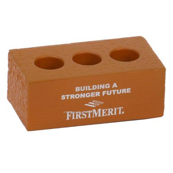 Brick W/Holes Squeeze Toy