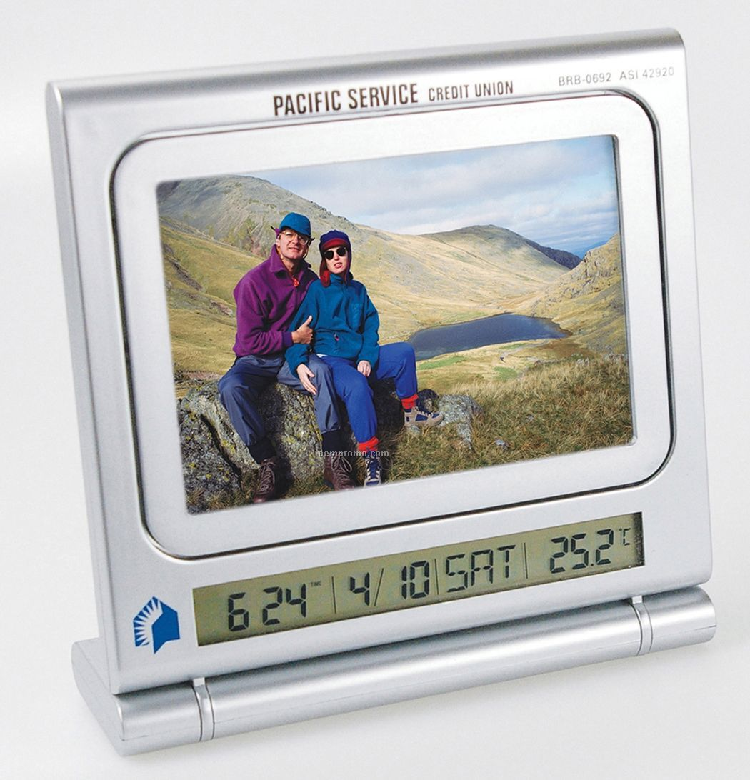 Clock Picture Frame W/ Thermometer & Dry Erase Board