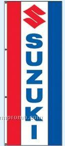 Double Face Dealer Rotator Drape Flags - Suzuki