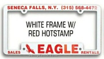 Premium License Frame (Screen Printed)