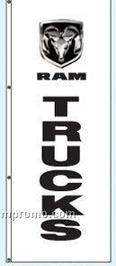 Double Face Dealer Rotator Drape Flags - Ram Trucks