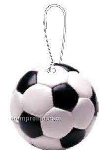 Soccer Ball Zipper Pull
