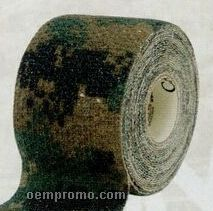 Woodland Camo Form Self Cling Camouflage Wrap Tape