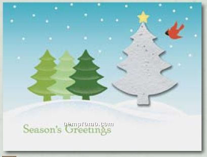 """""""O Christmas Tree"""" Holiday Greeting Card With Tree Ornament"""