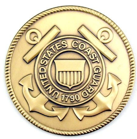 """2-1/2"""" Military Seal/ Coin (United States Coast Guard) Brass"""
