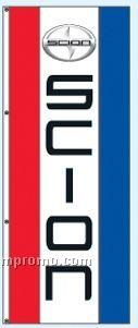 Double Face Dealer Rotator Drape Flags - Scion