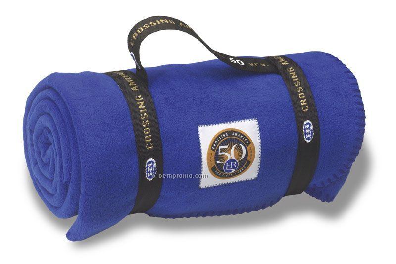 Fleece Blanket With Elite Plus Fabric Short Carry Strap