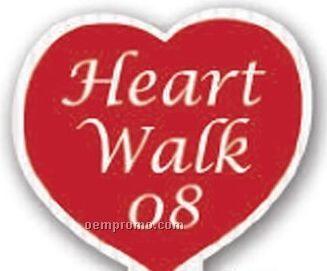 "Heart Corrugated Plastic Hand Sign (12""X8"")"
