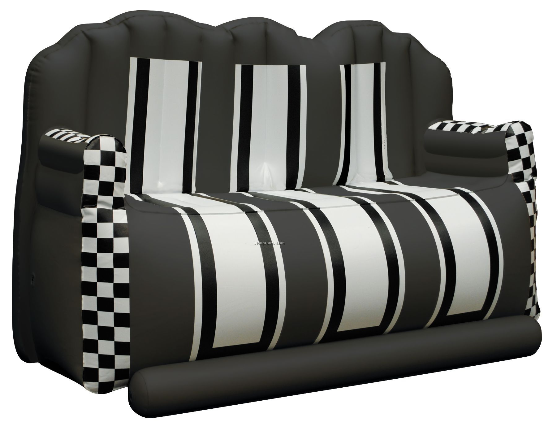 Inflate A Seat Quot Couch Quot Black White Black With Checkered