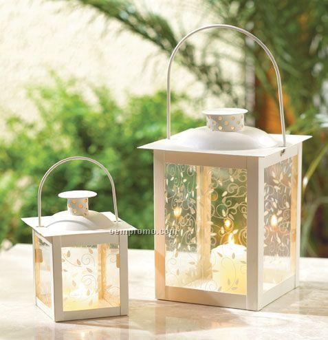 Ivory White Candle Lantern