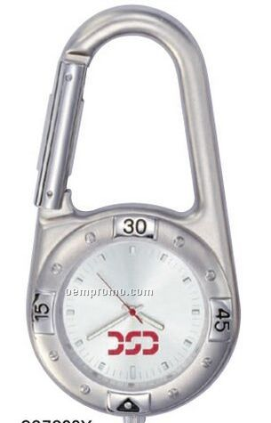 Pedre Carabiner Watch W/ Silver Sunray Dial