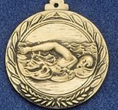 "2.5"" Stock Cast Medallion (Swim Freestyle/ Female)"