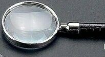 Black Croco Leather Magnifier Glass