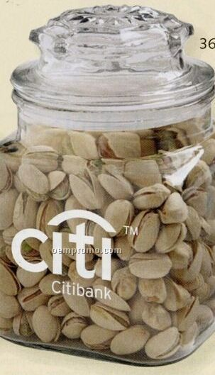 Chocolate Buttons Candy In 36 Oz. Classic Glass Candy Jar