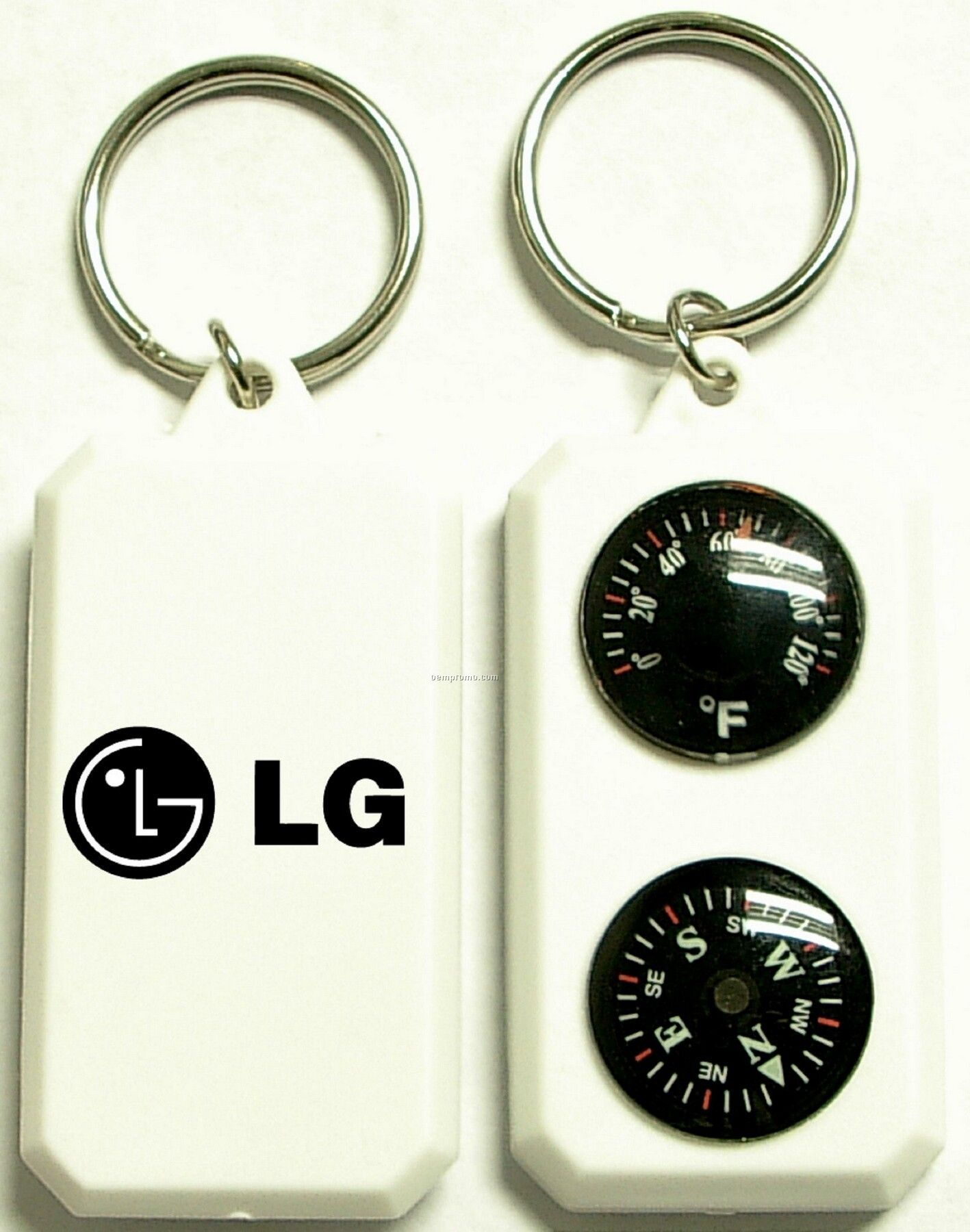Compass And Thermometer Keychain