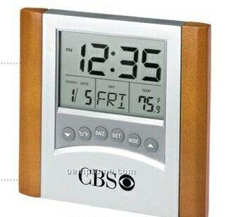 Digital Alarm Clock W/ Calendar & Thermometer