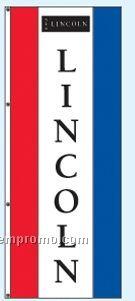 Double Face Dealer Rotator Drape Flags - Lincoln