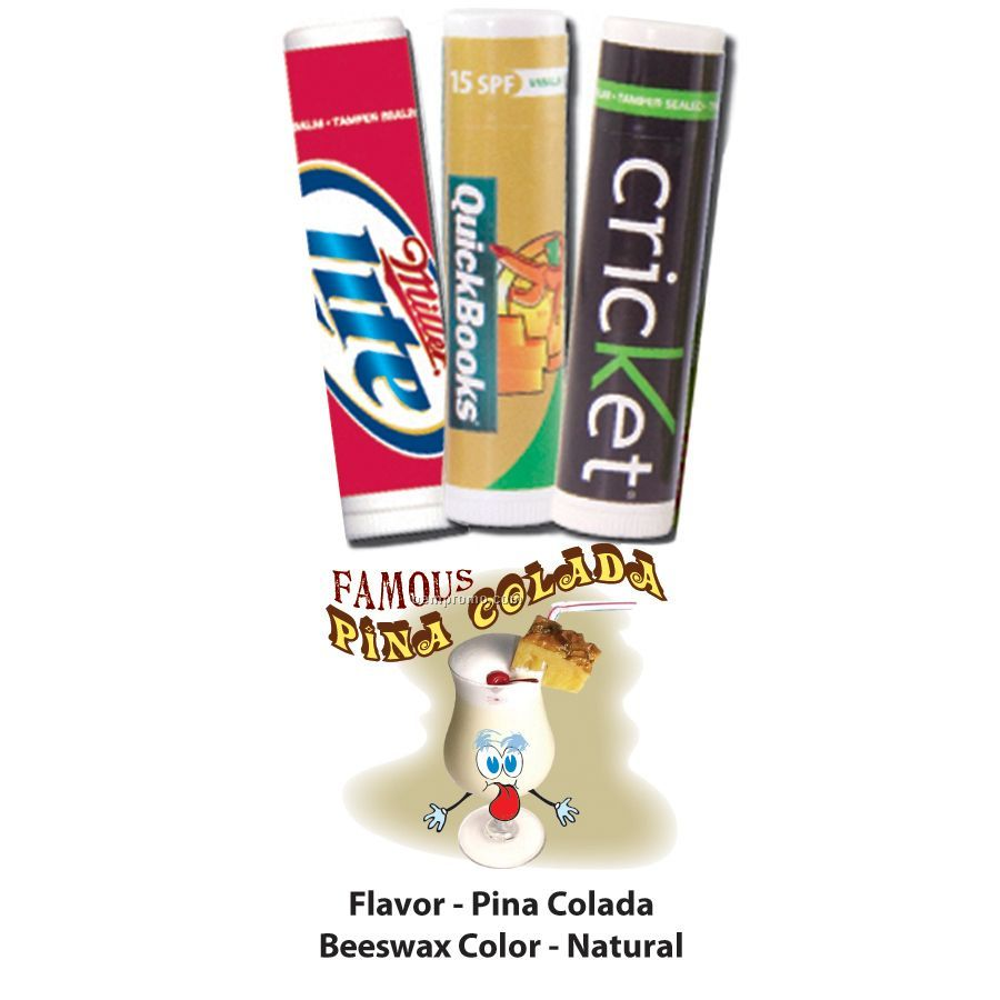 Famous Pina Colada Premium Lip Balm In Clear Tube
