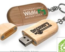 Legno Wood USB Flash Drive W/ Keychain (4 Gb)