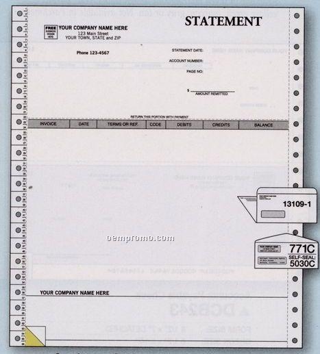 Parchment Statement - Bpi Accounting Compatible (2 Part)