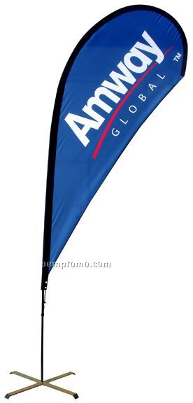 11' Double Sided Teardrop Banner System (Spot Color)