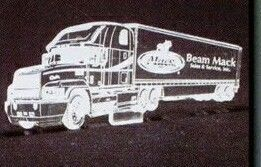 18 Wheeler Truck Acrylic Paperweight (Up To 12 Square Inch)