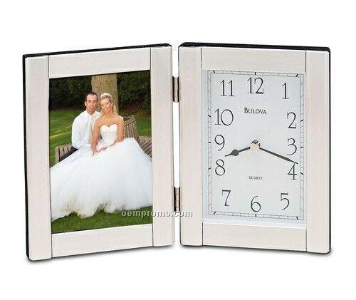 "Bulova B1275 Forte II Clock W/Photograph Opening (3-1/2""X5"")"