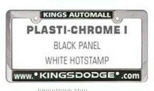 Plasti-chrome I Metallic Frame W/ Raised Letters (Screen Printed)