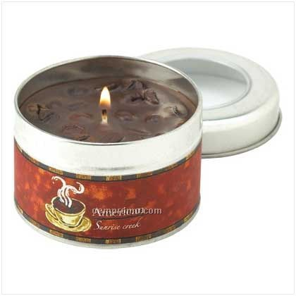 American Coffee Scent Tin Candle