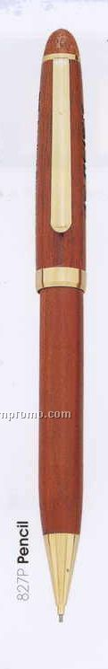 Genuine Wood Twist Action Mechanical Pencil (Laser)