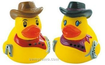 Rubber Mini Rodeo Duck