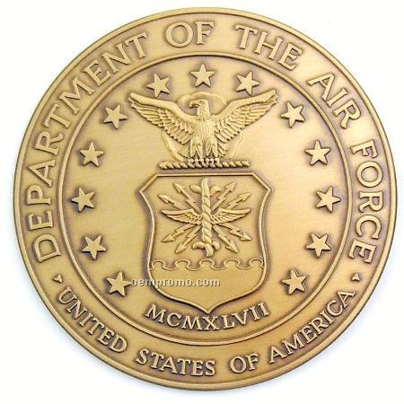 "1-1/2"" Military Seal/Coin (Dept Of Air Force-eagle) Brass"