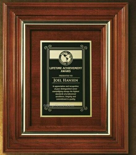 "Americana Wall Plaque With Wood Insert (11 3/4""X9 3/4"")"