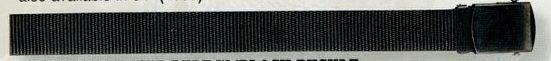 "Black Nylon Web Belt With Black Buckle (54"")"
