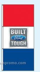 Single Face Dealer Interceptor Drape Flags - Built Ford Tough
