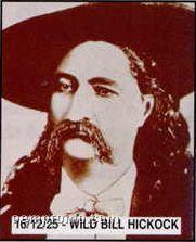 "11""X14"" Early American Tin Type Print - Wild Bill Hickock"