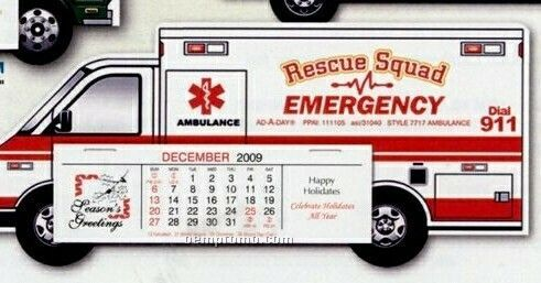 Ambulance Standard Die Cut Desk Calendar