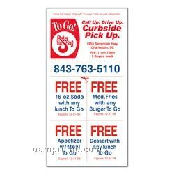 Magnetic Coupon Stick-up Card - 4 Color Process