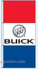Single Face Dealer Interceptor Drape Flags - Buick