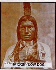 """11""""X14"""" Early American Tin Type Print - Low Dog"""