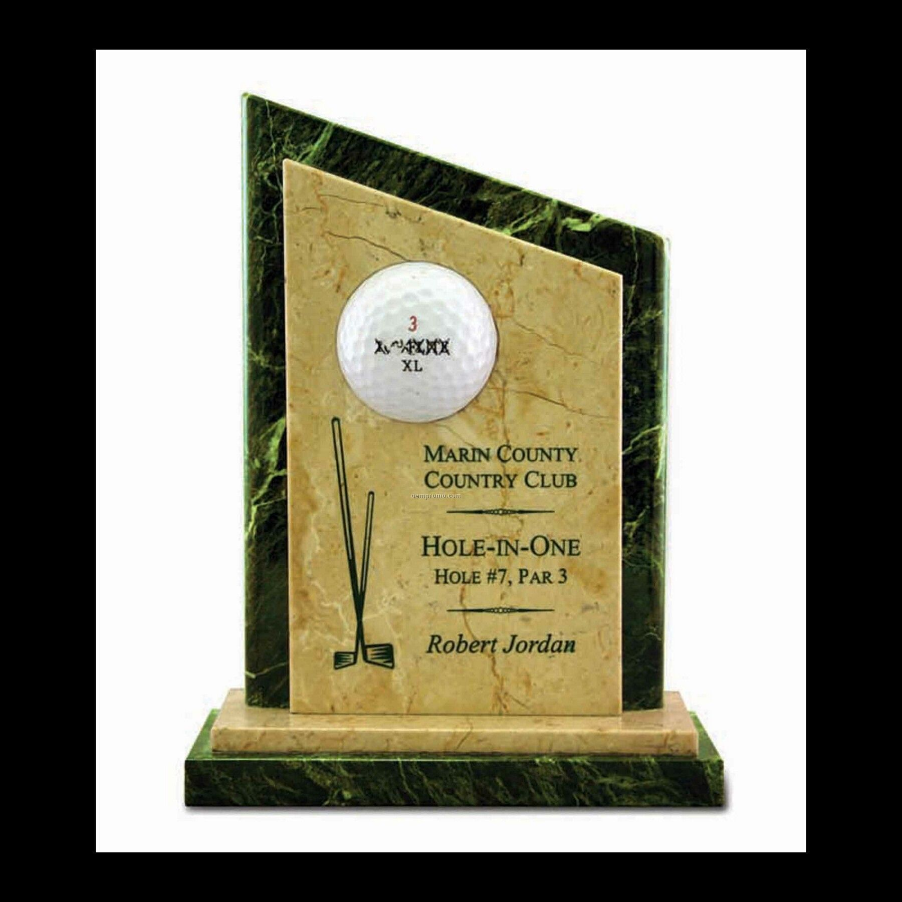 "7-1/4"" Marble Hole In One Golf Award"