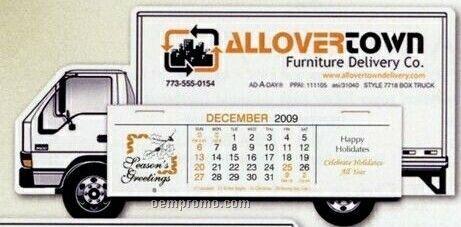 Box Truck Standard Die Cut Desk Calendar