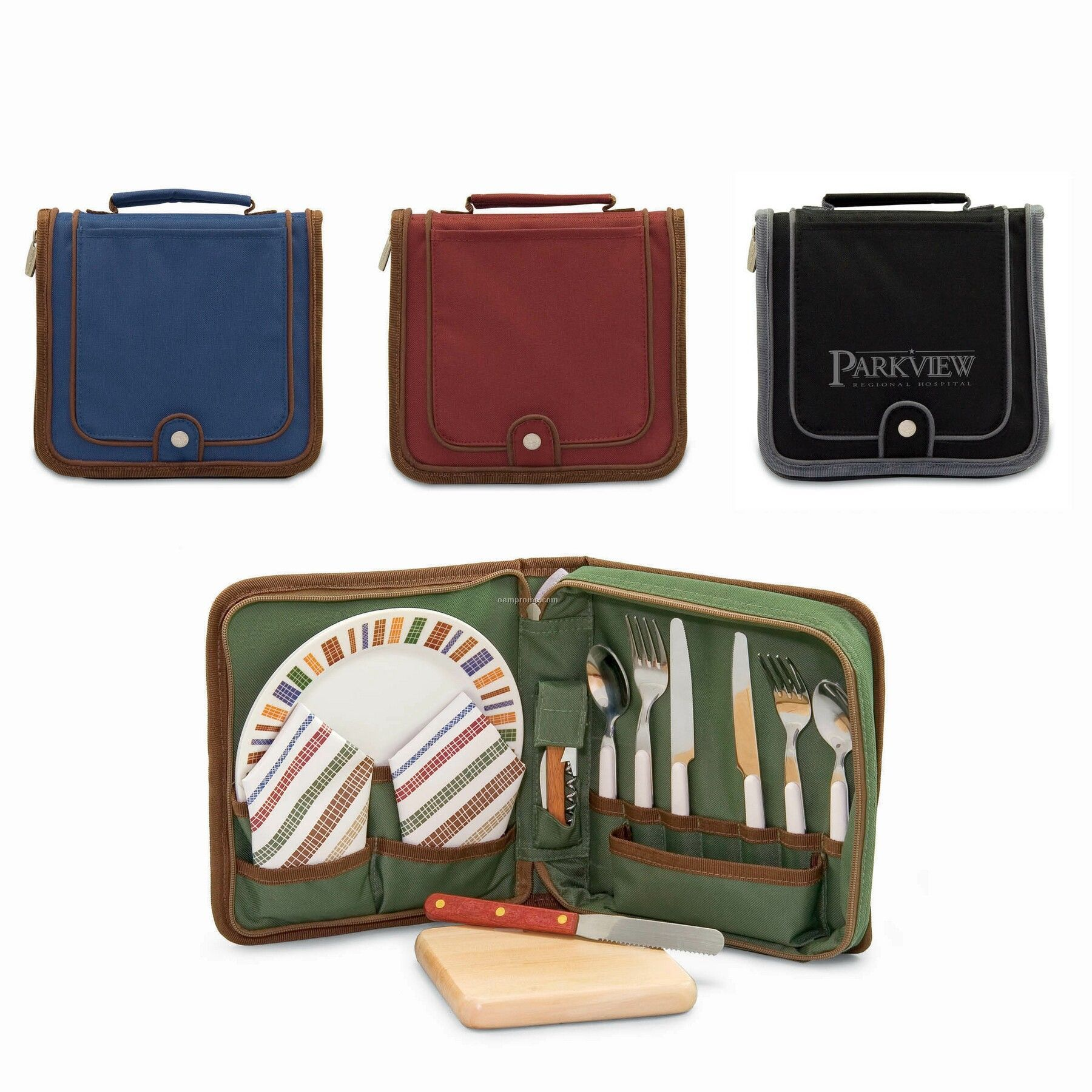 Piatto Wine & Cheese Square Travel Pack W/ Service For 2 (Solids)