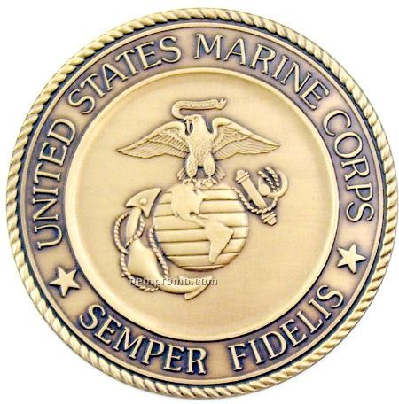 "1-1/2"" Military Seal/ Coin (Us Marine Corps) Brass"