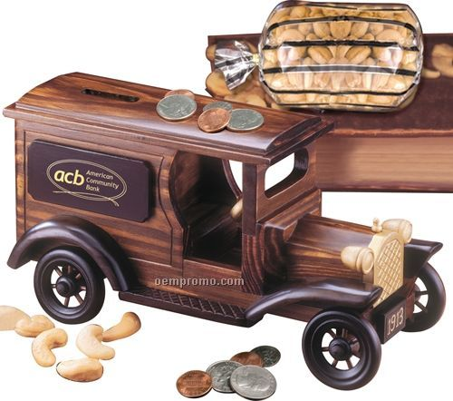 1913 Armored Car Bank W/ Extra Fancy Jumbo Cashews