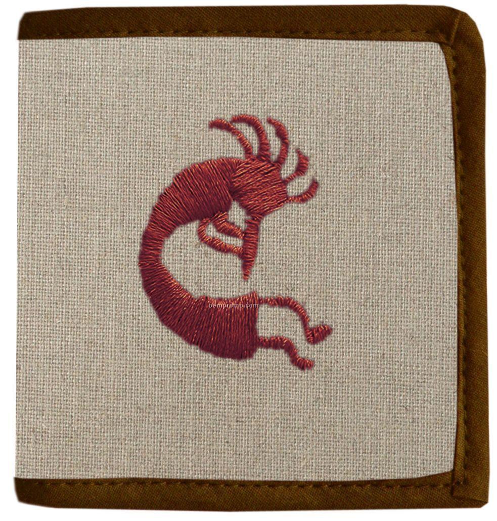Duofold Hemp Fabric Wallet